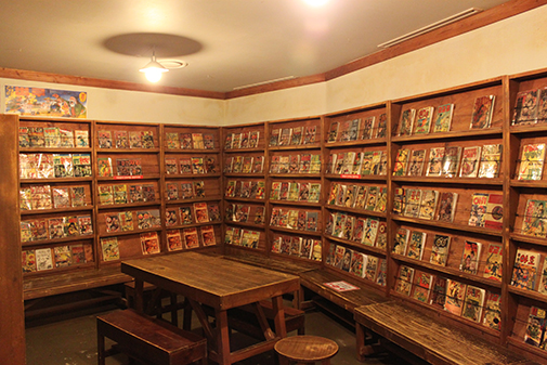 and a view of a comics store a long time ago in Korea